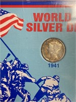 WORLD WAR II SILVER DIME SET (48)