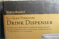 World Market 2 Gal Drink Dispenser NEW