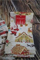 Holiday Kitchen Set Oven Mitt Hot Pad Towel