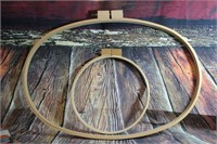 Lot of 2 Quilting Hoops
