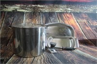 Lot of Stainless Pot and Trays