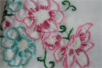 Lot of Vintage Embroidered Pillow Cases Plus