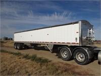 2014 Wilson Pace Setter alum. grain trailer, 41'