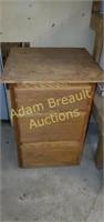 3 drawer oak custom workshop table