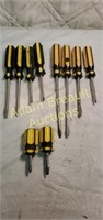 10 Philip and flat-head screwdrivers