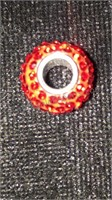 Sterling Silver Ruby Swarovski Crystal 10mm Bead