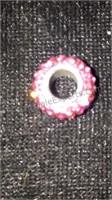 Sterling Silver Rose Swarovski Crystal 10mm Bead