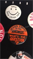 Assorted Buttons/Pins and Button Covers