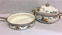 Vintage Cookware Set - Lid fits both pieces