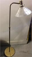 "Working Glass & Brass Floor Lamp 54"""