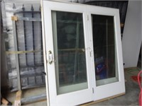 (2) Matching Full Glass Entry Patio Doors
