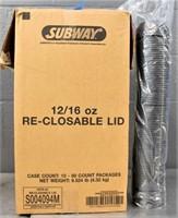 Box Of 12-16 Oz. Reclosable Lid