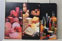 Framed, screened prints, 24x48 (3)