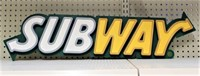 "Lighted Subway Sign, 7"" X 34"""