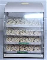 Glass/Aluminum Cookie Display, 4 shelf