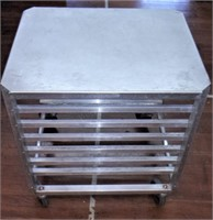 Sheet pan cart with solid top, 22 x 27