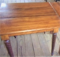 Dining table, rope twisted legs, 28x45x30 tall