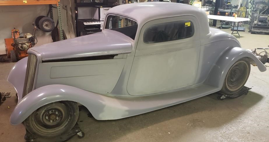 1934 Ford 3 Window Coupe Deluxe Project Car.