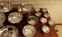 Silver plate bowls