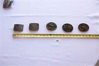 5 Belt Buckles