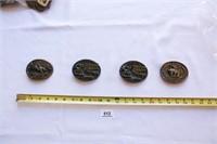 4 Belt Buckles