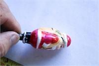 Antique Glass Santa Clause Christmas light