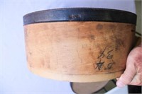 Vintage Round Wood Cheese box with lid