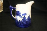 Floral Pattern ceramic pieces; Native Am. Pitcher