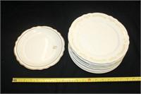 """""""Homer Laughlin"""" Dinner Plates (7+1); etc.…"""