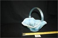 Fenton (Per seller) Blue Glass Basket