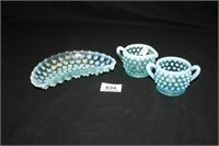 Fenton (Per Seller) Hobnail Dishes (3)