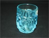 Fenton Blue Glass small Vase; small glass dish
