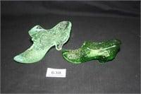 Green Glass Shoes (2);Fenton; Tiara