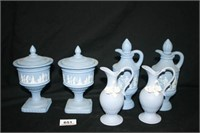 Blue Avon Glass Bottles and Dishes