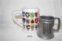 German Style Handled Beer Mugs(8)