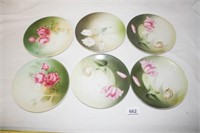 "Floral Plates Marked ""Russia"" (6)"