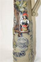 Tall Lidded Stein with Cuckoo Clock Designs