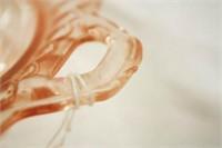 "Pink Glass ""Open Rose"" Pattern"