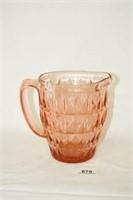 "Pink Glass ""Windsor Diamond"" Pattern"