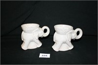 Frankoma Elephant Mugs 1968 GOP