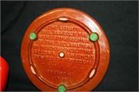 Red Frankoma Liberty Bell Trivet; 2 Goblets