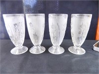 Jeanette Iris Goblets; Clear; (8)