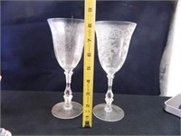 Rose Point Crystal by Cambridge