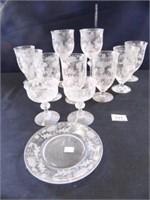 """Fostoria Glassware """"Daisy""""; (12)"""