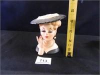 Lady Head Vase; Napco; Japan