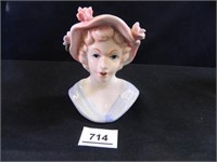 Lady Head Vase; Made in Japan
