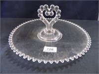 "Candlewick Tray w/handle; 12"" diam."