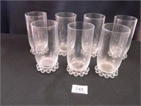 Candlewick Drinking Glasses; (7)
