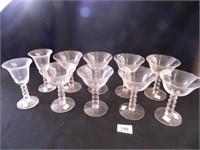 Candlewick Stemware; (10) Pieces