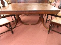 Antique Table & 4 Chairs